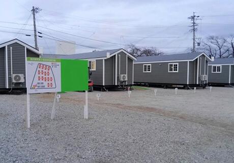 11月29日仮設住宅15台。115世帯の仮設住宅に対し、15世帯を担当