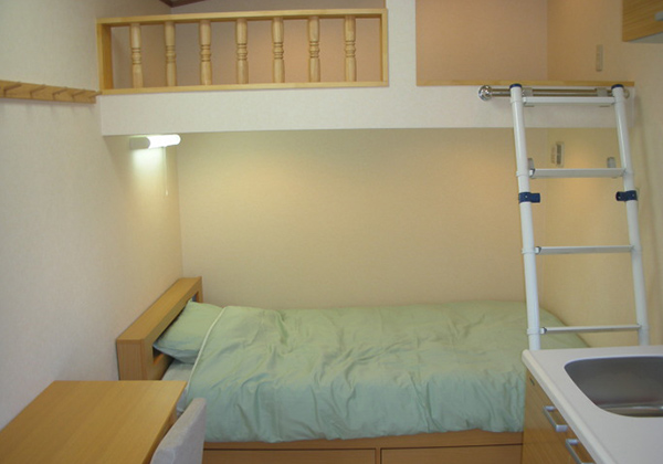 収納付シングルベッド