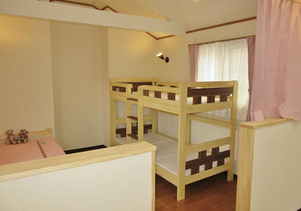 2段ベッドの設置も可能です