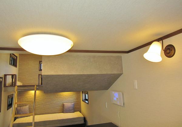 LEDシーリングライト、ブラケットライト等装備