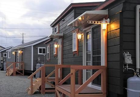 クラブ3台、グランデ12台 150㎡/1世帯位の敷地があります。