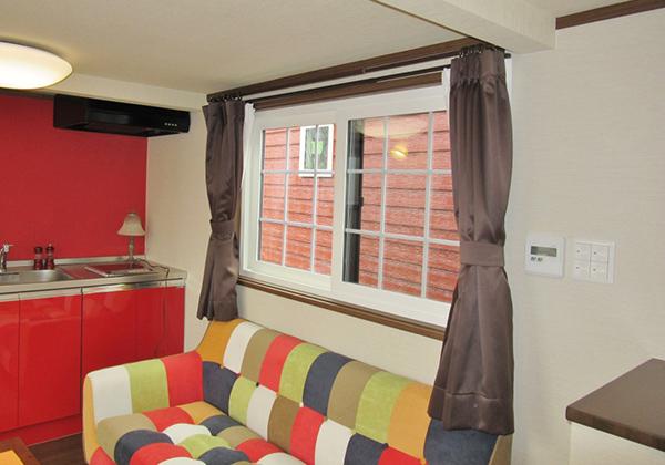 【家具セット】カーテン一式(レース&遮光)カーテン・レール小窓ロールカーテン